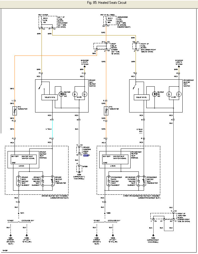GM_HeatedSeats_diagram power seat wiring diagram chevrolet wiring diagrams for diy car 2016 Ford Power Seat Wiring Diagram at panicattacktreatment.co